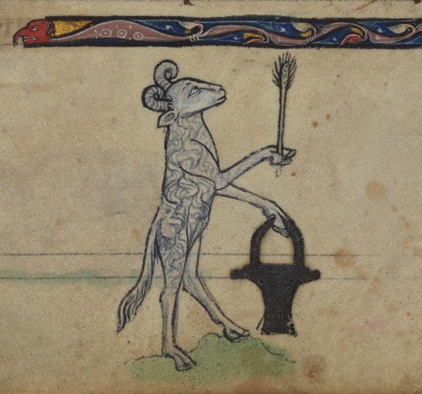 Ram with situla, detail from fol. 80r.