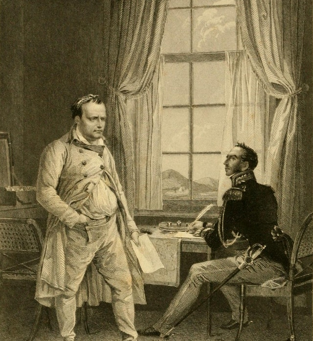 Napoleon at St Helena (1855)