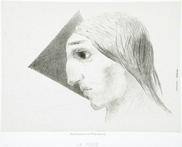 odilon redon's edgar allan poe lithographs