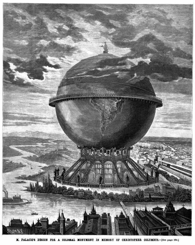 Palacio's Plan for Colossal Monument to Columbus (1890)