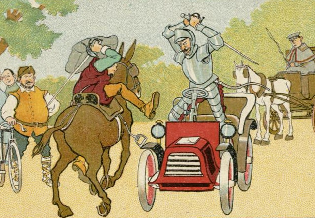 Don Quixote in the 20th Century (ca. 1905)