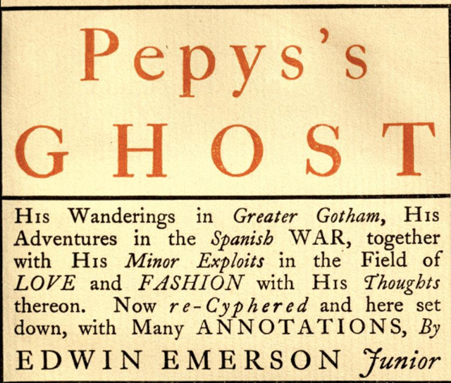 Pepys's Ghost (1899)