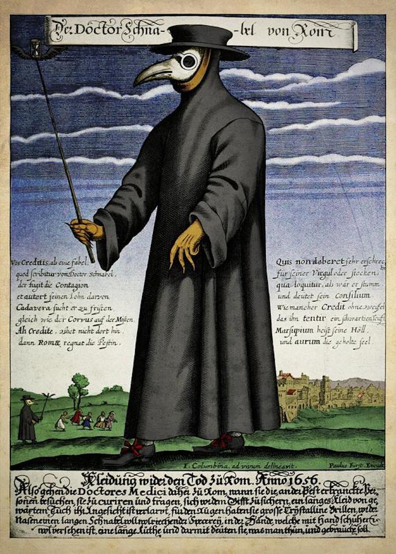 Plague Doctor Costumes – The Public Domain Review