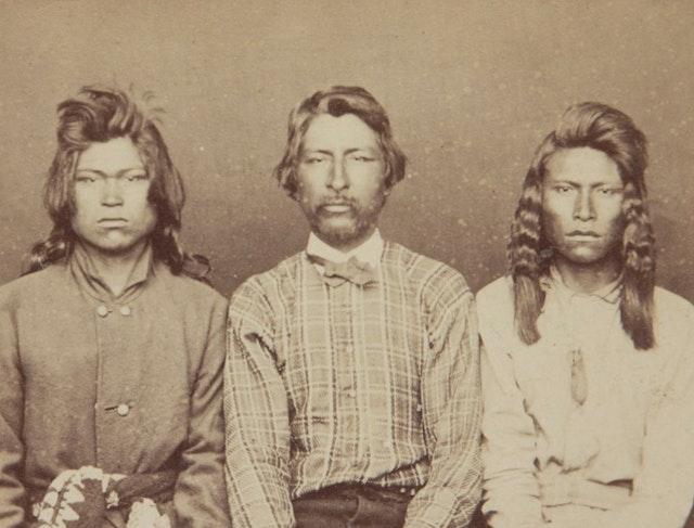 Portraits of Imprisoned Modoc Warriors (1873)