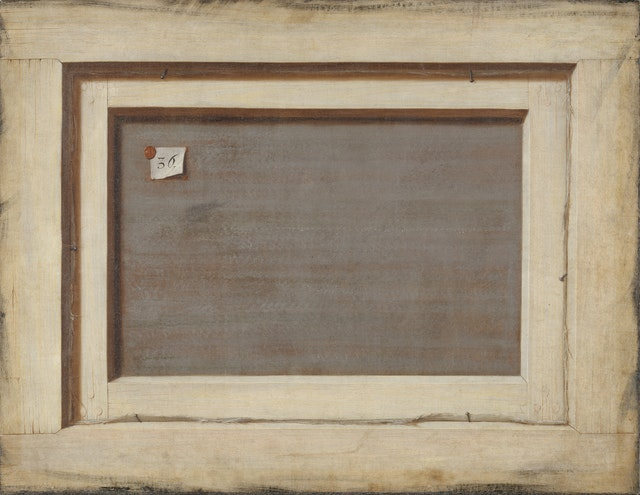 The Reverse of a Framed Painting, and Other Trompe L'oeil by Cornelis Norbertus Gijsbrechts (ca. 1670)