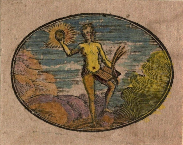 Scrapbook of Hand-Coloured Juvenile Woodcut Emblems