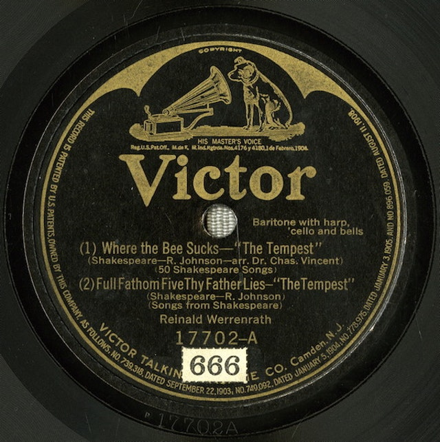 Shakespeare Songs from Victor Records