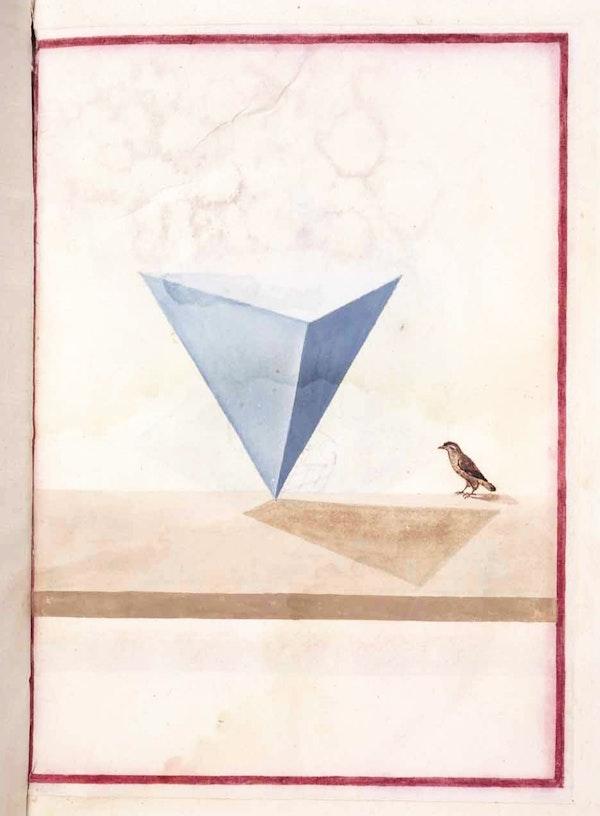 watercolor geometrical illustration