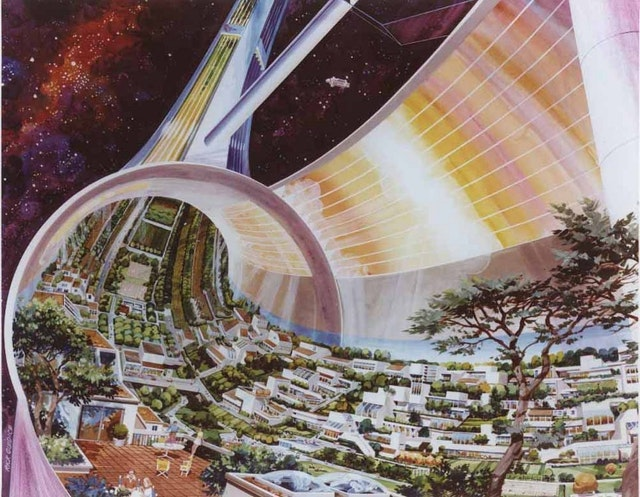 Space Colony Art from the 1970s