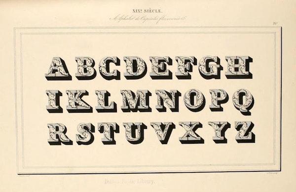 Page from Joseph-Balthazar Sylvestre's Alphabet Album