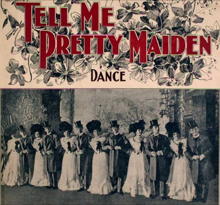 Tell Me Pretty Maiden (1902) – The Public Domain Review
