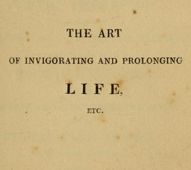 The Art of Invigorating and Prolonging Life (1822)