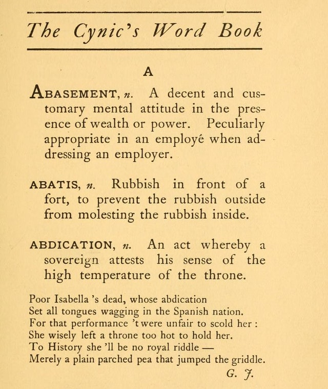 The Cynic's Word Book (1906)
