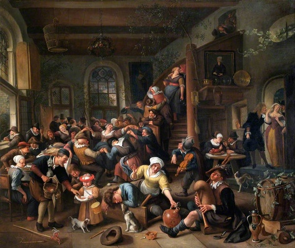 jan steen egg dance peasants