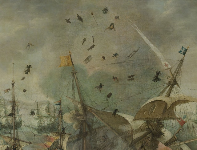 The Explosion of the Spanish Flagship during the Battle of Gibraltar (ca. 1621)