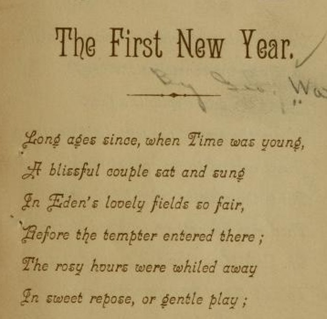 The First New Year (1885)