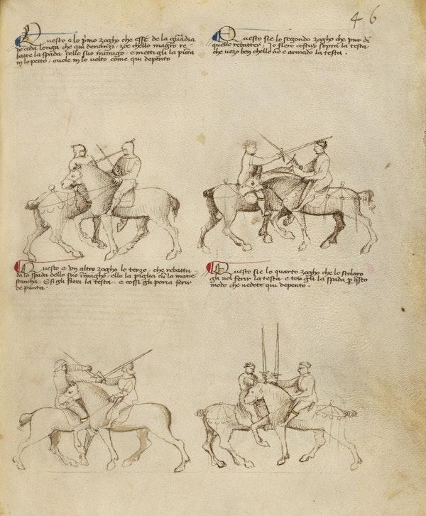 Equestrian Combat with Sword
