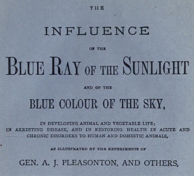 The Influence of the Blue Ray of the Sunlight and of the Blue Color of the Sky (1877)