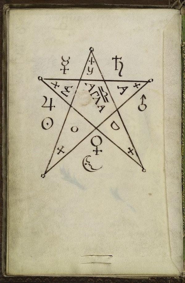 L0036627 Pentagram seal, from Cyprianus, 18th C
