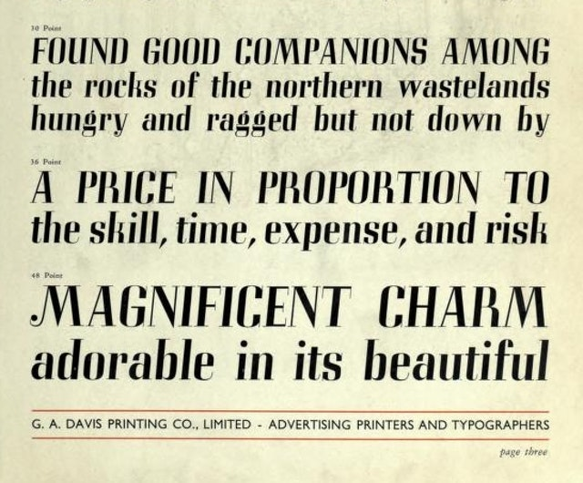 The Selection Of Type Is Just As Important As The Selection Of Words (1939?)