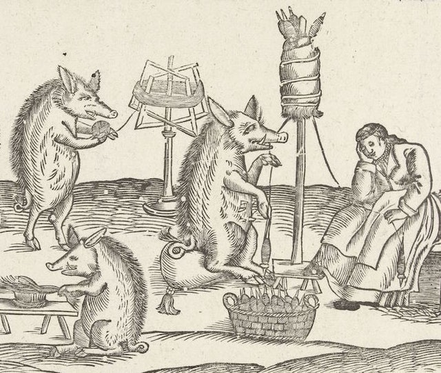 The Spinning Sow (1673)
