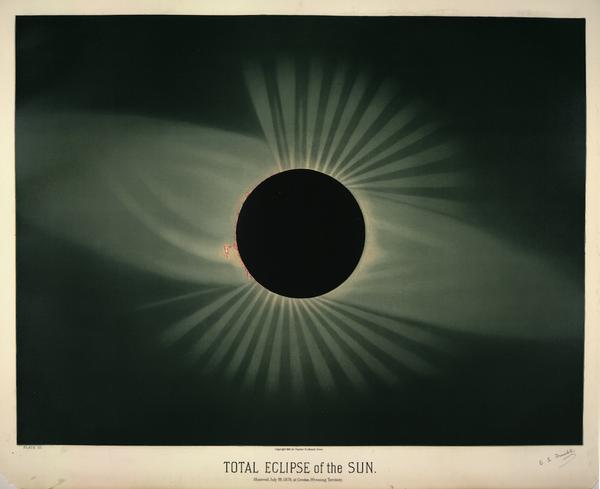 Trouvelot total eclipse of the sun