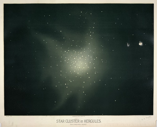 trouvelot Star Cluster in Hercules