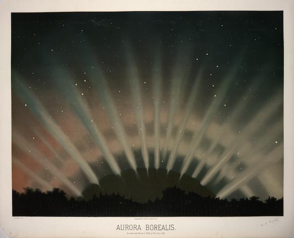 Trouvelot aurora borealis