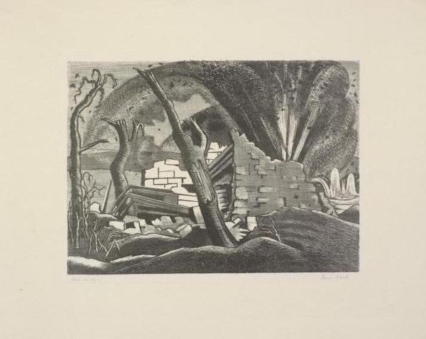 A Shell Bursting, Passchendaele, 1918.