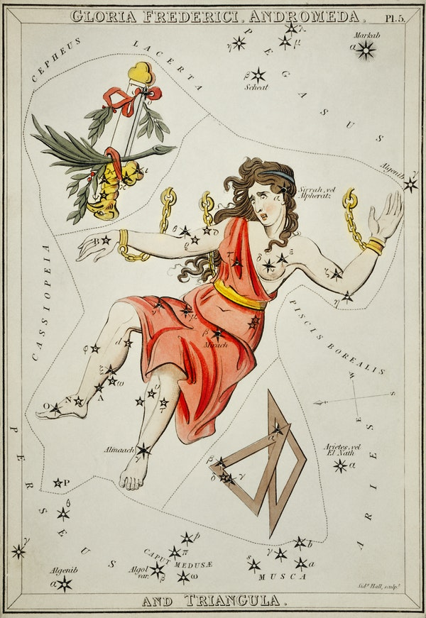 Constellations card from Urania's Mirror