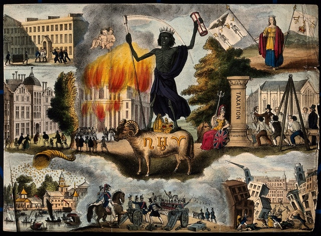 Various Apocalyptic Scenes from the Prophetic Messenger (ca. 1827–61)