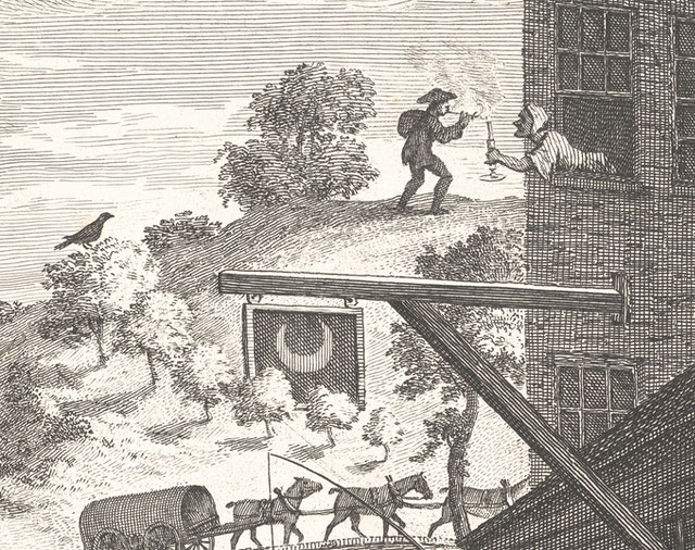 William Hogarth's Satire on False Perspective (1754)