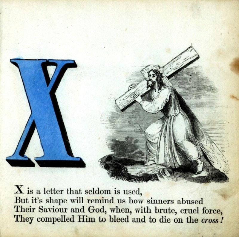 alphabet book letter x