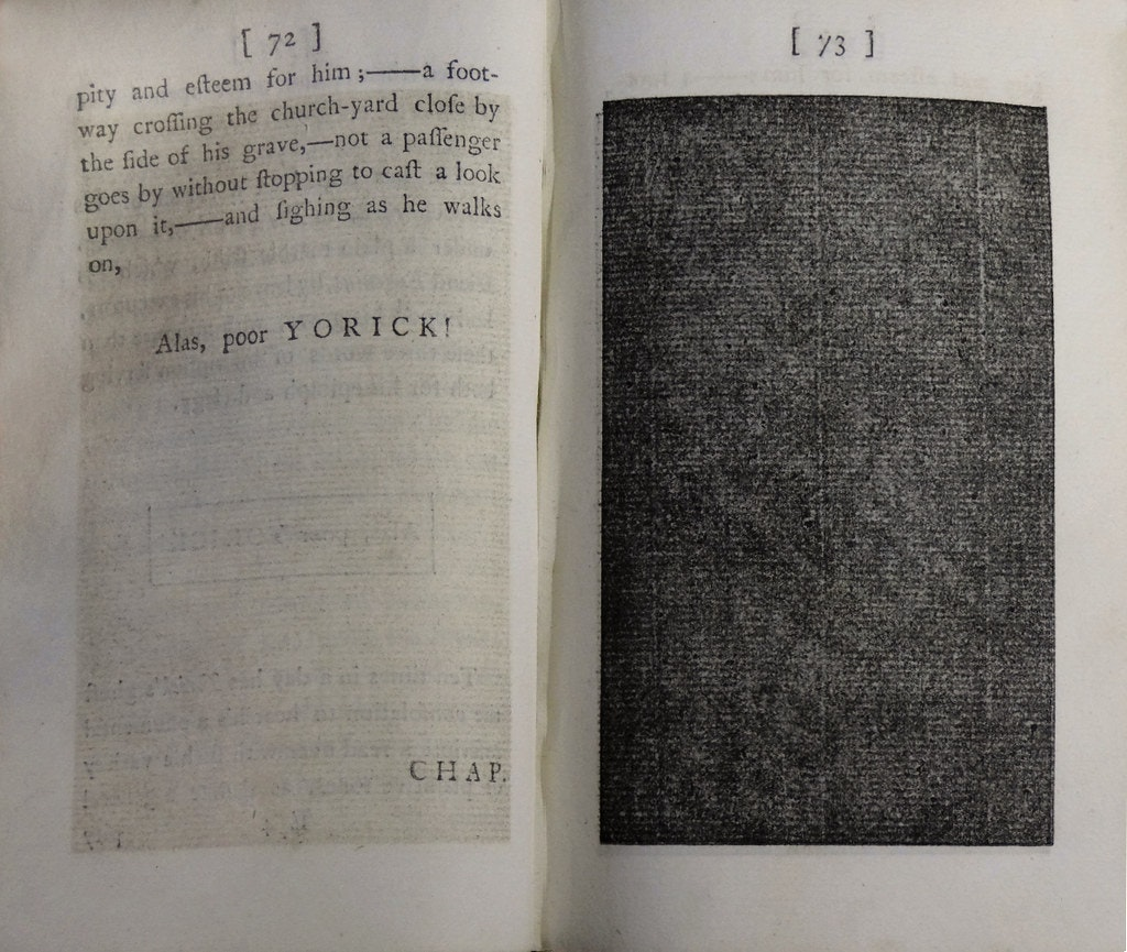tristram shandy black page first edition