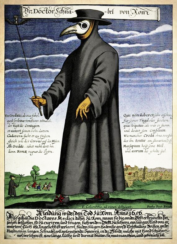 plague doctor rome 1656