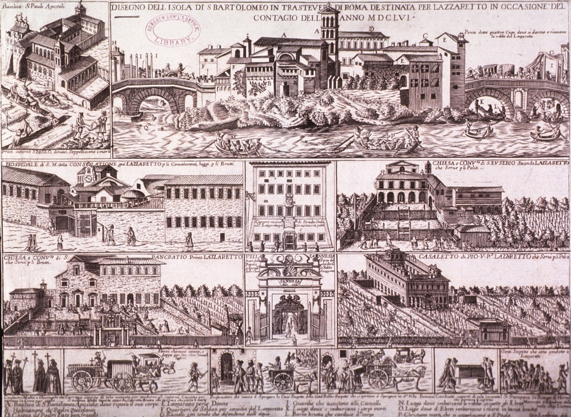 map of rome 1652