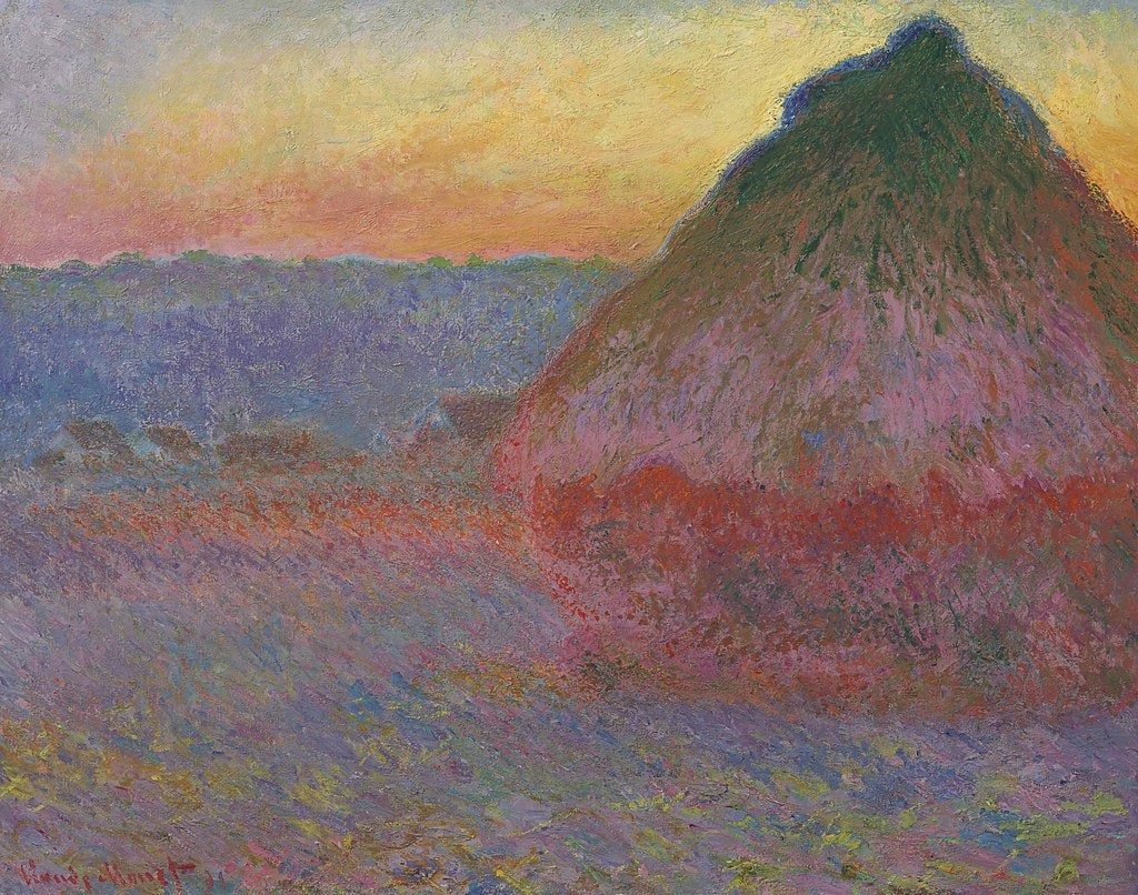 Grainstack in the Sunlight Monet