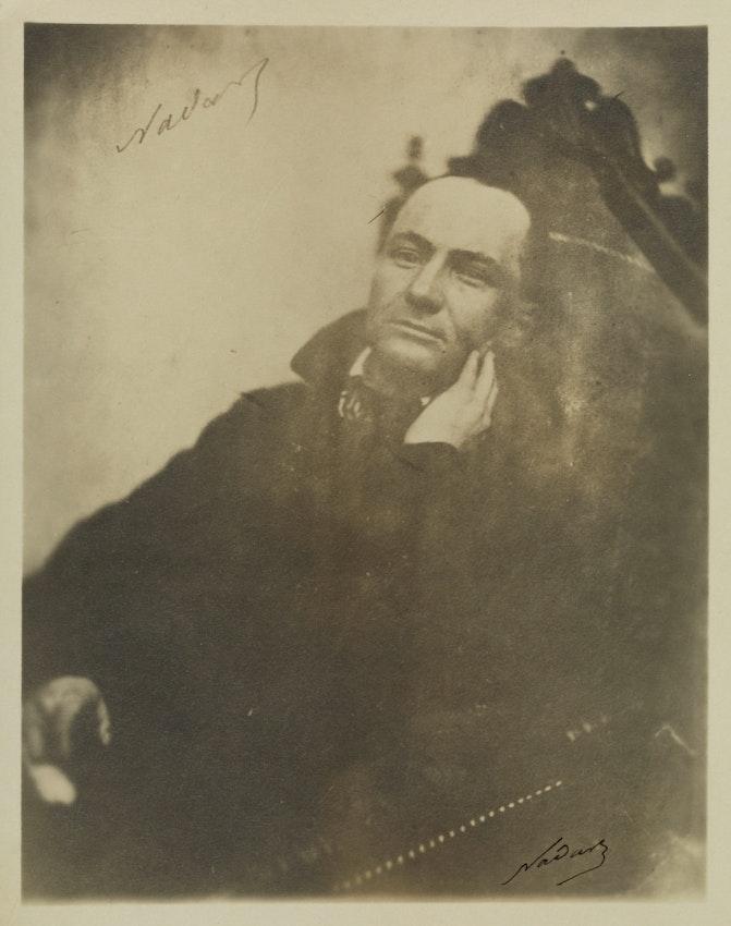 A portrait of Baudelaire taken by Nadar