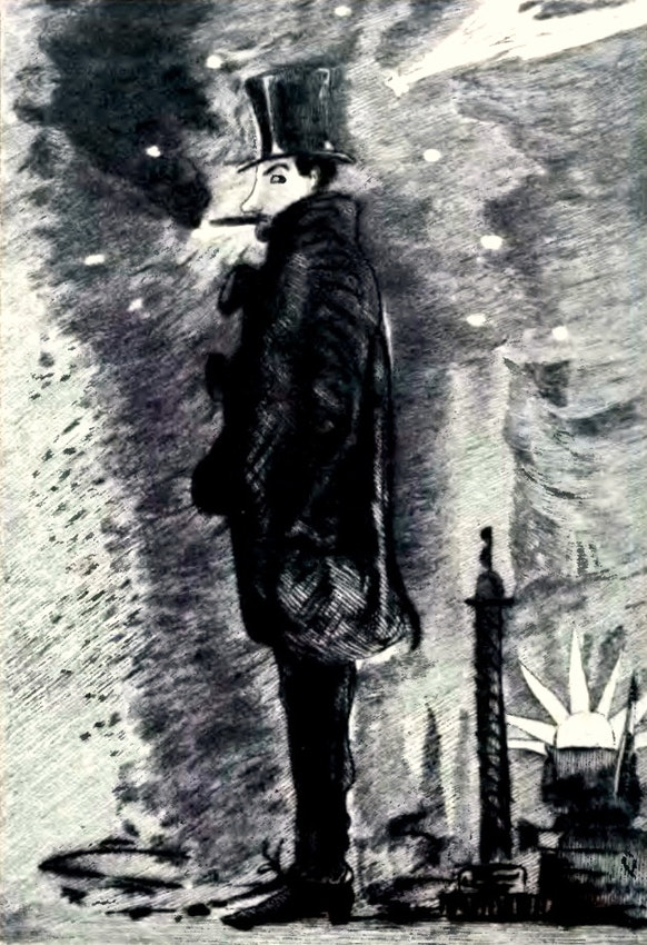 Baudelaire self-portrait smoking hashish
