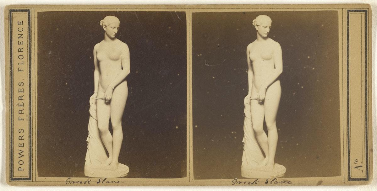 Stereograph of Hiram Powers' Greek Slave