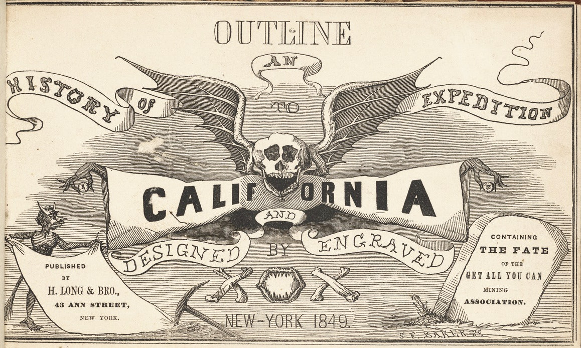 californian gold rush comic Outline History of an Expedition to California