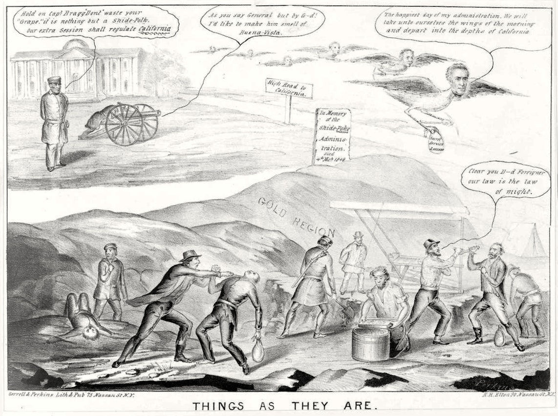 californian gold rush cartoon