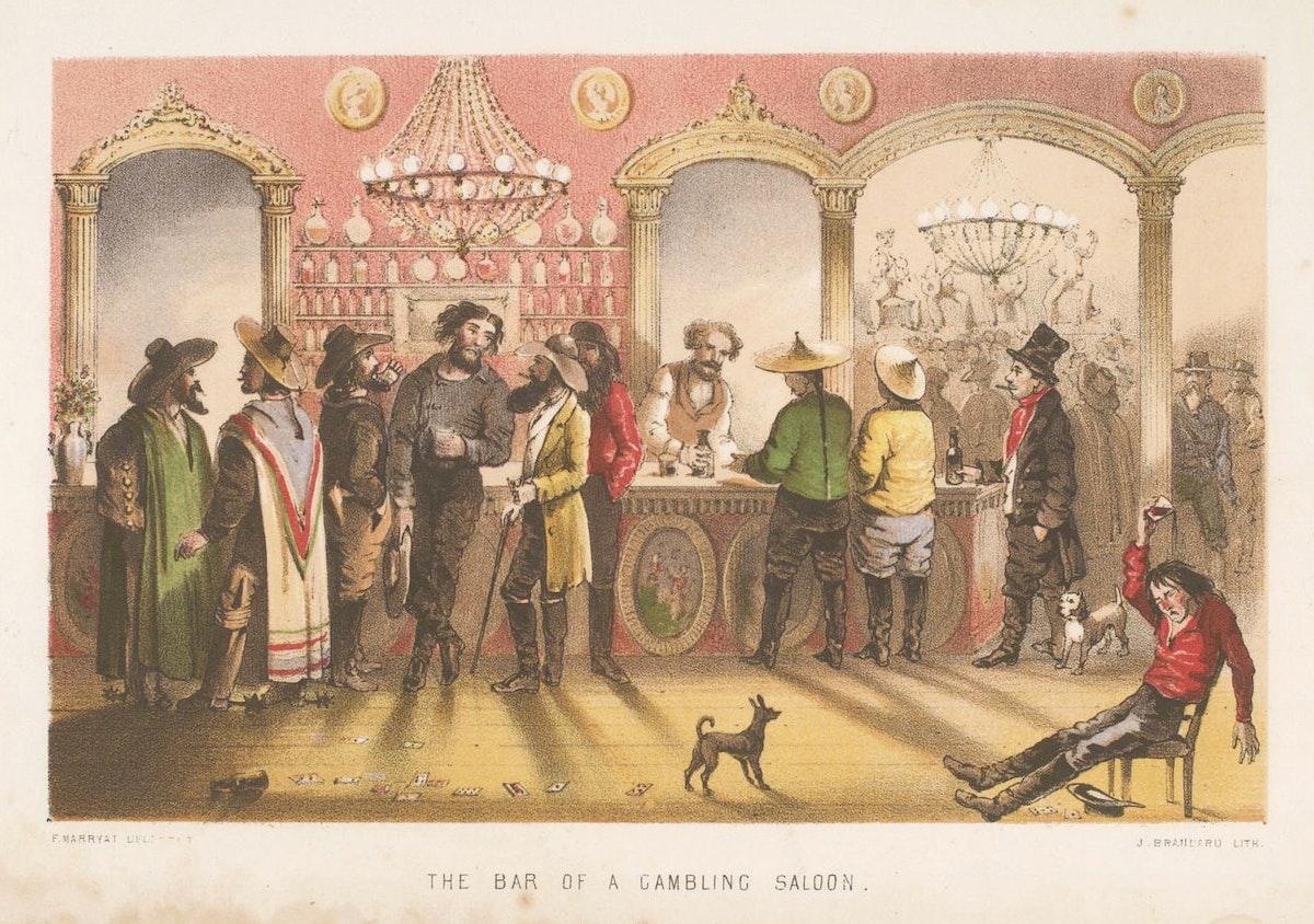 californian gold rush gambling saloon