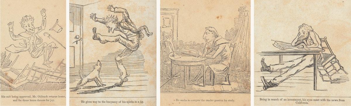 The Adventures of Mr. Obadiah Oldbuck comic comparison
