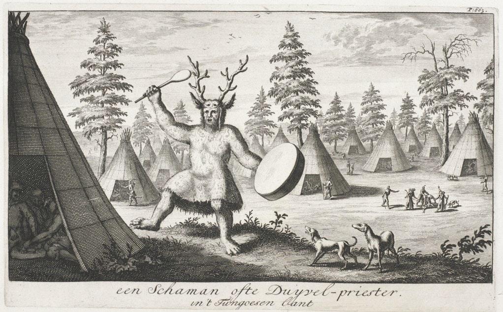 Siberian shaman illustration