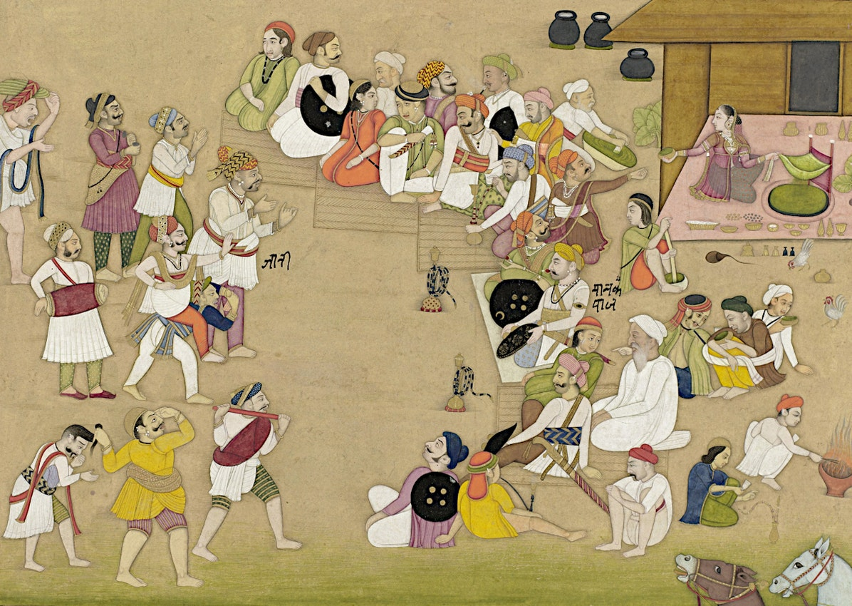 pintura del uso de bhang en India