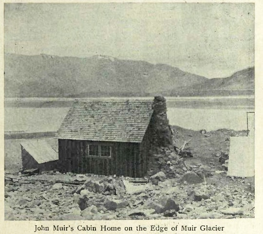 John Muir's Cabin Home on the Edge of Muir Glacier