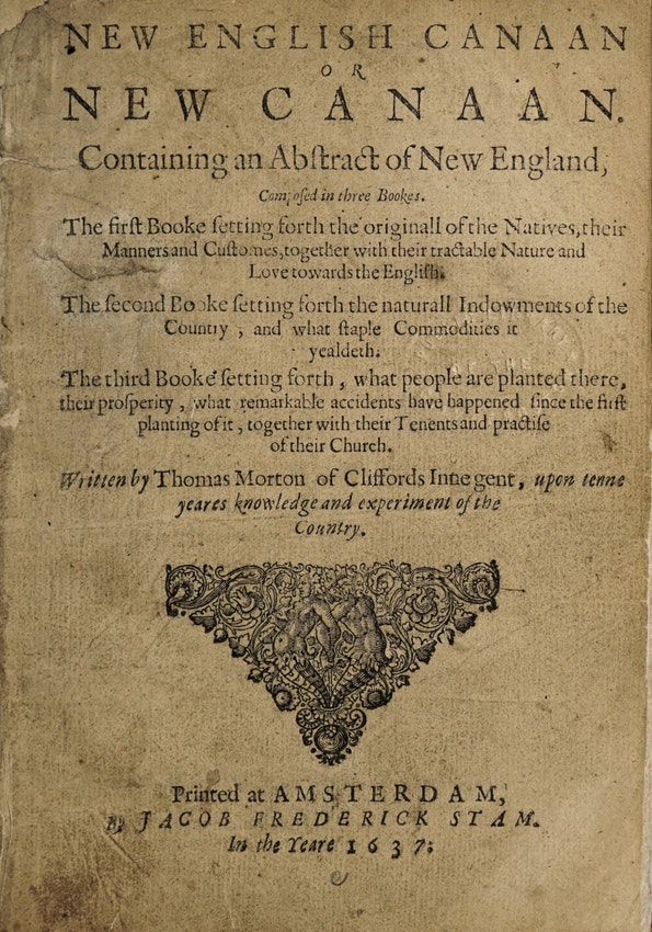 Thomas Morton New English Canaan, or, New Canaan