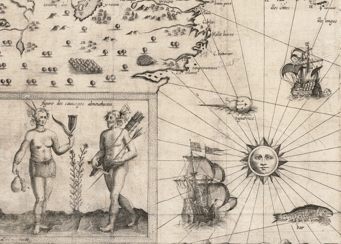 Carte geographique de la Nouvelle Franse