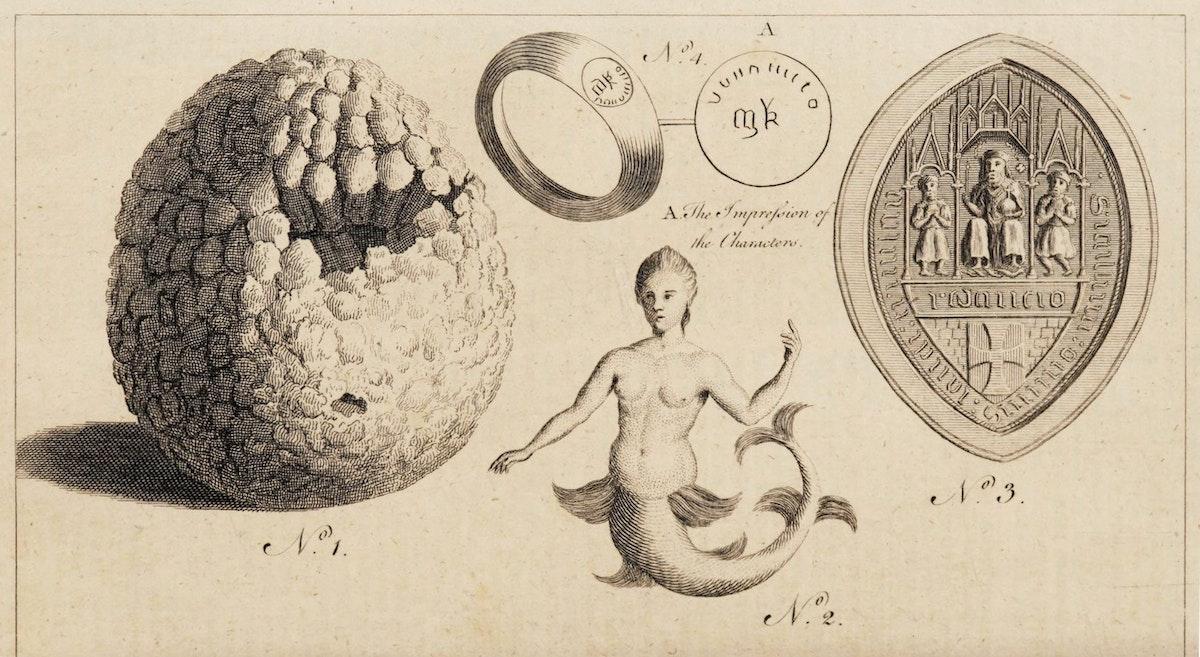 mermaid illustration from Gentleman's Magazine